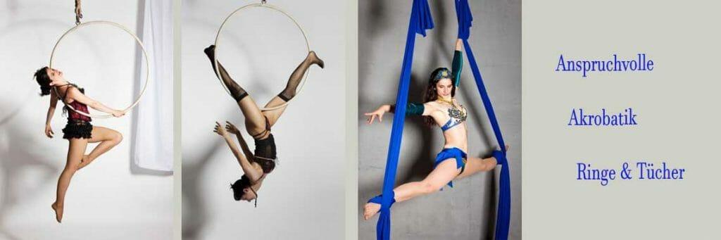Unterhaltungskünstler mit Akrobatik