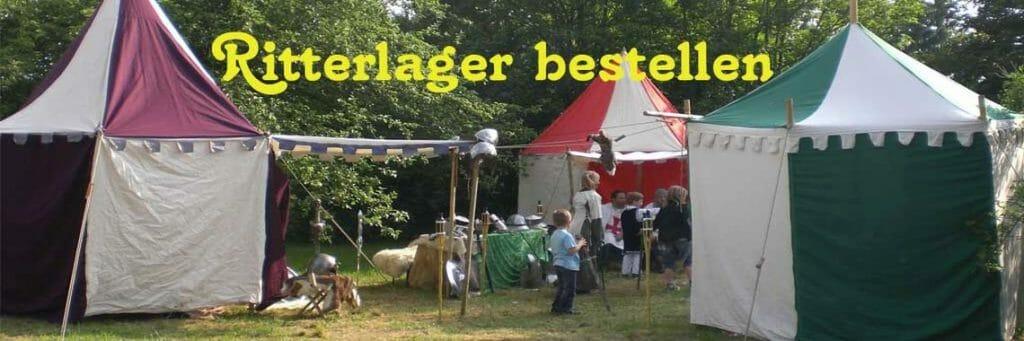 Unterhaltungskunst mit Ritterlager, Ritterkampf, Mittelalter-Gelage