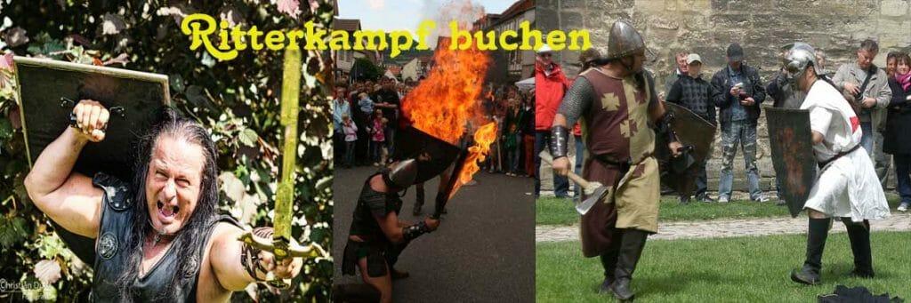 Unterhaltungskünstler mit Mittelaltershow und Ritterkampf